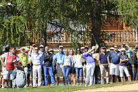 Matthew Fitzpatrick (ENG) plays his 2nd shot from the rough on the 5th hole during Sunday's Final Round 4 of the 2018 Omega European Masters, held at the Golf Club Crans-Sur-Sierre, Crans Montana, Switzerland. 9th September 2018.<br /> Picture: Eoin Clarke | Golffile<br /> <br /> <br /> All photos usage must carry mandatory copyright credit (&copy; Golffile | Eoin Clarke)