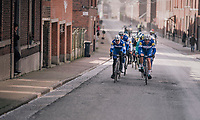 The lead group racing through the streets of Dour (in the local laps)<br /> <br /> 50th GP Samyn 2018<br /> Quaregnon > Dour: 200km (BELGIUM)
