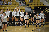 NWA Democrat-Gazette/J.T. WAMPLER Image from Bentonville versus Fayetteville volleyball Tuesday Sept. 11, 2018.