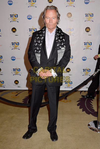John Savage.23nd Annual Night of 100 Stars Awards Gala hosted by Norby Walters celebrating the 85th Annual Academy Awards held at the Beverly Hills Hotel, Beverly Hills, California, USA..February 24th, 2013.full length black suit pattern grey gray scarf.CAP/ADM/BT.©Birdie Thompson/AdMedia/Capital Pictures.