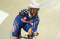 Picture by Alex Whitehead/SWpix.com - 02/03/2017 - Cycling - UCI Para-cycling Track World Championships - Velo Sports Center, Los Angeles, USA - Men's C3 1 km Time Trial Final. Gold - USA's BERENYI Joseph.