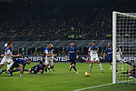 Lautaro Martinez of Inter makes contact with Rafael Toloi of Atalanta in the penalty area but the referee Gianluca Rocchi only gave a corner kick following strong appeals from the Atalanta players during the Serie A match at Giuseppe Meazza, Milan. Picture date: 11th January 2020. Picture credit should read: Jonathan Moscrop/Sportimage