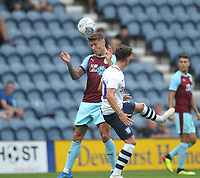 Burnley's Jeff Hendrick battles with Preston North End's Josh Harrop<br /> <br /> Photographer Mick Walker/CameraSport<br /> <br /> Football Pre-Season Friendly - Preston North End  v Burnley FC  - Monday 23st July 2018 - Deepdale  - Preston<br /> <br /> World Copyright &copy; 2018 CameraSport. All rights reserved. 43 Linden Ave. Countesthorpe. Leicester. England. LE8 5PG - Tel: +44 (0) 116 277 4147 - admin@camerasport.com - www.camerasport.com