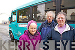 Pictured availing of the Kerry Community Transport 'Tralee - Ballyheigue' Bus Service, from left: Joan Lucid (Ballyheigue), Alan O'Dwyer (Ballyheigue) and Marian Murray (Ballyheigue).