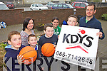 BLITZ: Launching the upcoming KDYS basketball blitz in Castleisland, front l-r: Kenneth O'Connor, David Lane, Dominick Prendiville, Damien Feehan. Back l-r: Helena Falvey, Madeline Frissung, Robbie Fields.
