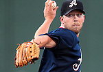 Reno Aces pitcher Zach Kroenke throws against the Round Rock Express during a minor league baseball game Thursday Aug. 16, 2012, in Reno, Nev. The Express defeated the Aces 9-8 in extra innings..Photo by Cathleen Allison
