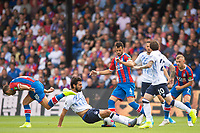 Everton Andre Gomes and Crystal Palace Luka Milivojevic during the Premier League match between Crystal Palace and Everton at Selhurst Park, London, England on 10 August 2019. Photo by Andrew Aleksiejczuk / PRiME Media Images.