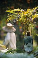 """Asie/Thaïlande/Env de Chiang Mai : Réception à la """"Mae Sa Valley Resort"""" - Détail décoration du jardin"""