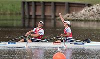 Sarasota. Florida USA.   Final A Gold Medalist. Bow. Annika VAN DER MEER and CorneDE  KONING. 2017 World Rowing Championships, Nathan Benderson Park<br /> <br /> Saturday  30.09.17   <br /> <br /> [Mandatory Credit. Peter SPURRIER/Intersport Images].<br /> <br /> <br /> NIKON CORPORATION -  NIKON D500  lens  VR 500mm f/4G IF-ED mm. 250 ISO 1/1250/sec. f 5
