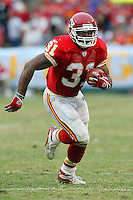 Priest Holmes In an NFL game played at Arrowhead Stadium where the Kansas City Chiefs Defeated the Indianapolis Colts 45-35