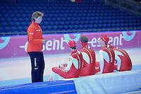 SCHAATSEN: HEERENVEEN: 23-09-2013, IJsstadion Thialf, Training Team Corendon, Renate Groenewold (trainer/coach), ©foto Martin de Jong