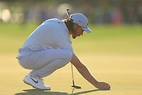 Tommy Fleetwood (ENG) during the 2nd round of the Abu Dhabi HSBC Championship, Abu Dhabi Golf Club, Abu Dhabi,  United Arab Emirates. 17/01/2020<br /> Picture: Oisin Keniry   Golffile<br /> <br /> <br /> All photo usage must carry mandatory copyright credit (© Golffile   Oisin Keniry)