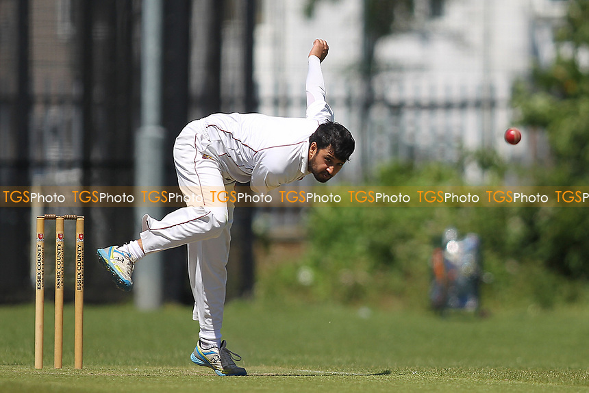E Afzal of Barking during Newham CC vs Barking CC, Essex County League Cricket at Flanders Playing Fields on 10th June 2017