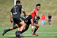Kotaro MATSUSHIMA (松島 幸太朗) in action during the Hurricanes Hinters v Wolfpack at Jerry Collins Stadium, Porirua, New Zealand on Friday 29 March 2019. <br /> Photo by Masanori Udagawa. <br /> www.photowellington.photoshelter.com