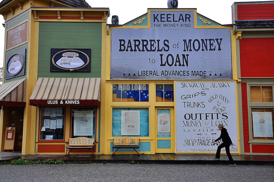 Visitor in a Gold Rush Town, Skagway, Alaska