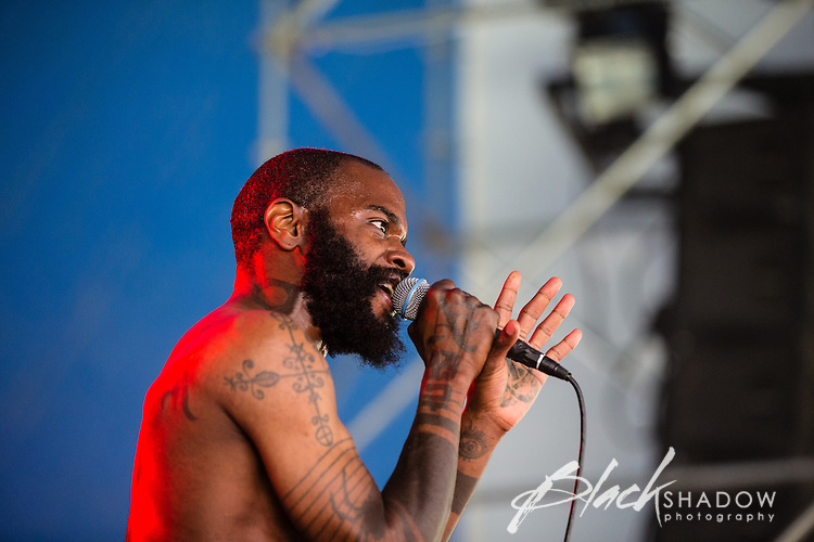 Death Grips performing at The Big Day Out, Melbourne, Flemington Racecourse, 26 January 2013