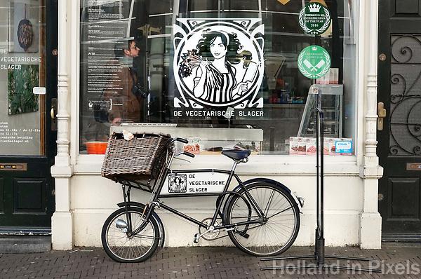 Nederland Den Haag 2018. Winkel van de Vegetarische Slager. Foto Berlinda van Dam / Hollandse Hoogte
