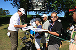 Shane Lowry (IRL) signing autographs on the 11th fairway .on practice day of the USGA at Congressional, Bethesda, Washington, 15/6/11.Picture Fran Caffrey/www.golffile.ie