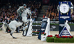 Emanuele Gaudiano of Italy rides Caspar 232 in action at the Longines Grand Prix during the Longines Hong Kong Masters 2015 at the AsiaWorld Expo on 15 February 2015 in Hong Kong, China. Photo by Juan Flor / Power Sport Images