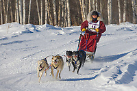 Musher Stacy Lanser, 2007 Limited North American Championship Sled dog race in Fairbanks, Alaska.