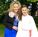 Birute Rimiene and Vilte Trinkunaite during Confirmation for Scoil Sporaid Naoimh Laytown on Thursday 21st May 2015.<br /> Picture:  Thos Caffrey / www.newsfile.ie