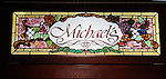 Stained Glass Sign, Michaels Restaurant, Las Vegas, Nevada