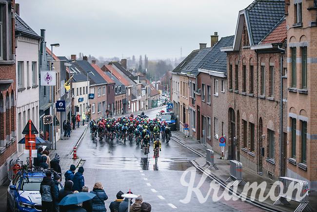 Peloton up the Hoogledeberg <br /> <br /> GP Monseré 2020<br /> One Day Race: Hooglede – Roeselare 196.8km. (UCI 1.1)<br /> Bingoal Cycling Cup 2020