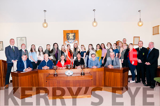 Civic Reception: Listowel Municiptal District Mayor Aoife Thornton hosted a civic reception for the Listowel U/18 girls rugby team that won three trophies during the year at Listowel Council chamber on Monday evening last.