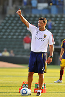 Jeff Cassar-Asst Coach Real Salt Lake...Kansas City Wizards and Real Salt Lake played to a 1-1 tie at Community America Ballpark, Kansas City, Kansas.