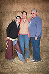 Three generations of ranch women: Kelsey Busi, her mother Collet Joses and her mother Cheryl Joses at the Guttenger Barn, San Andreas, Calif.