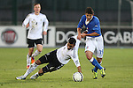 Erik Zenga and Danilo Cataldi (R) in action during the Four Nations football match tournament Italy vs Germany at Rovereto, on November 14, 2013.  <br /> <br /> Pierre Teyssot