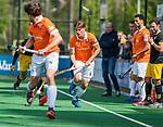 BLOEMENDAAL - Jorrit Croon (Bldaal)  tijdens de hoofdklasse competitiewedstrijd hockey heren,  Bloemendaal-Den Bosch (2-1) COPYRIGHT KOEN SUYK