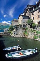 ITA, Italien, Lombardei, Comer See, Corenno Plinio: verschlafener Ort am Ostufer | ITA, Italy, Lombardia, Lake Como, Corenno Plinio: at the east banks