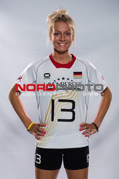 04.06.2015, Bundesleistungszentrum, Kienbaum<br /> Volleyball, Fotoshooting Nationalmannschaft Frauen<br /> <br /> Saskia Hippe (#13 GER)<br /> <br />   Foto &copy; nordphoto / Kurth