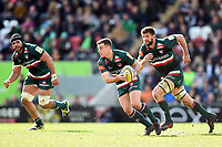 George Ford of Leicester Tigers in possession. Aviva Premiership match, between Leicester Tigers and Wasps on March 25, 2018 at Welford Road in Leicester, England. Photo by: Patrick Khachfe / JMP
