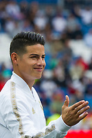 Spanish league football league between Real Madrid vs Levante at Santiago Bernabeu stadium in Madrid on Septemberl 14, 2019.<br /> Real Madrid's player James Rodriguez