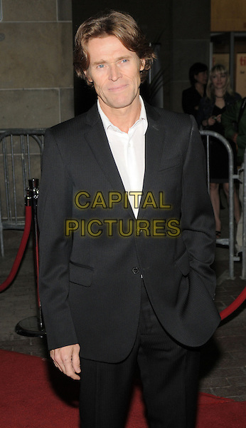 "WILLEM DAFOE.""Antichrist"" Premiere held at the Ryerson Theatre during the 35th Annual Toronto International Film Festival, Toronto, Ontario, Canada..September 10th, 2009.half length black suit jacket hand in pocket .CAP/ADM/BPC.©Brent Perniac/AdMedia/Capital Pictures."