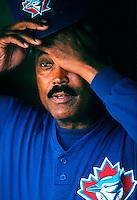 Toronto Blue Jays Manager Cito Gaston during a game at Anaheim Stadium in Anaheim, California during the 1997 season.(Larry Goren/Four Seam Images)