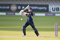 John Simpson of Middlesex CCC drives uppishly through the covers on his way to a half century during Middlesex vs Lancashire, Royal London One-Day Cup Cricket at Lord's Cricket Ground on 10th May 2019