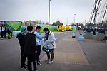 Manchester City 4, Tottenham Hotspur 3, 17/04/2019. Etihad Stadium, Champions League. Fans arriving outside the Etihad Stadium before Manchester City played Tottenham Hotspur in a Champions League quarter final, second league. The first leg was played the previous week at Spurs' new stadium which they won 1-0. The second lead resulted in a 4-3 win for City however Tottenham progressed to the semi-finals against Ajax on the away goal rule as the teams finished 4-4 on aggregate. Photo by Colin McPherson.