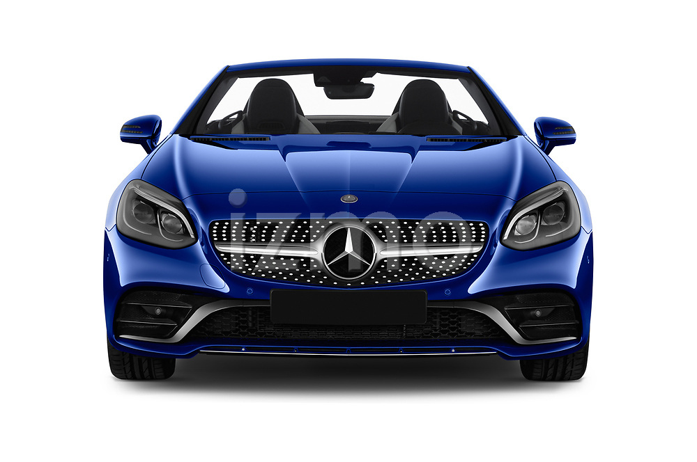 Car photography straight front view of a 2018 Mercedes Benz SLC AMG Line 2 Door Convertible