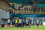 U-21U-21 Japan team group (JPN), <br /> AUGUST 19, 2018 - Football / Soccer : <br /> Men's Group D match <br /> between Japan 0-1 Vietnam <br /> at Wibawa Mukti Stadium <br /> during the 2018 Jakarta Palembang Asian Games <br /> in Cikarang, Indonesia. <br /> (Photo by Naoki Morita/AFLO SPORT)