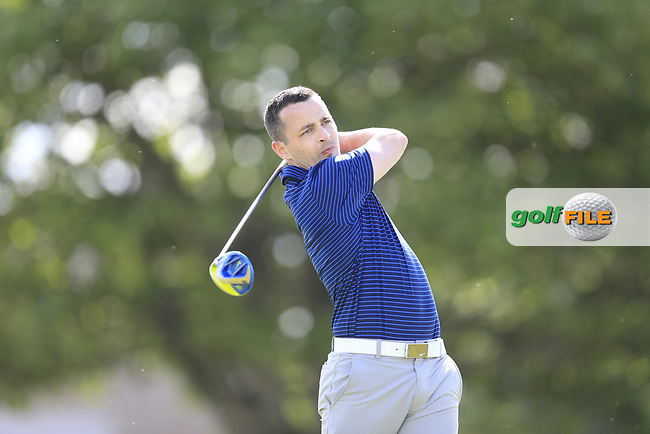 Daniel Holland (Castle) during the 1st round of the East of Ireland championship, Co Louth Golf Club, Baltray, Co Louth, Ireland. 02/06/2017<br /> Picture: Golffile | Fran Caffrey<br /> <br /> <br /> All photo usage must carry mandatory copyright credit (&copy; Golffile | Fran Caffrey)