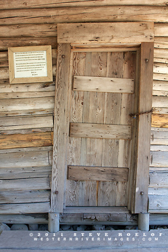 The door on the Zane Grey cabin.