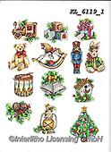 Interlitho-Theresa, CHRISTMAS SYMBOLS, WEIHNACHTEN SYMBOLE, NAVIDAD SÍMBOLOS, paintings+++++,12 window images,KL6119/1,#xx# ,stickers