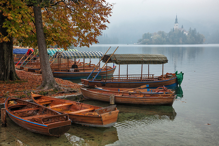A fairy-tale island, alpine mountains, and a cliff-hanging medieval castle complete the scenery at Lake Bled