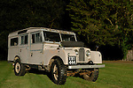 Very original and unrestored 1950's Land Rover Series One 107 LWB Station Wagon 2.0 litre petrol, TBT444, now part of the Dunsfold Collection. Europe, UK, England, Surrey, Dunsfold. --- Rights protection available on request. Automotive trademarks are the property of the trademark holder, authorization may be needed for some uses.