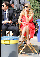 7 NOVEMBRE 2012 - LOS ANGELES - ETATS-UNIS - EMILY VANCAMP TOURNE LA SERIE REVENGE AU CAFE PINOT.<br /> KDENA/NORTEPHOTO
