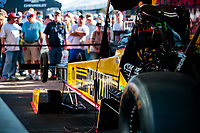 Oct 20, 2019; Ennis, TX, USA; NHRA top fuel driver Leah Pritchett during the Fall Nationals at the Texas Motorplex. Mandatory Credit: Mark J. Rebilas-USA TODAY Sports