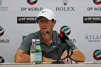 Rory McIlroy (NIR) during the Preview for the DP World Tour Championship at the Jumeirah Golf Estates in Dubai, UAE on Monday 16/11/15.<br /> Picture: Golffile | Thos Caffrey<br /> <br /> All photo usage must carry mandatory copyright credit (© Golffile | Thos Caffrey)